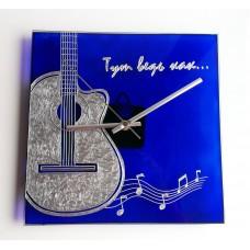 Часы настенные «Гитара синяя»