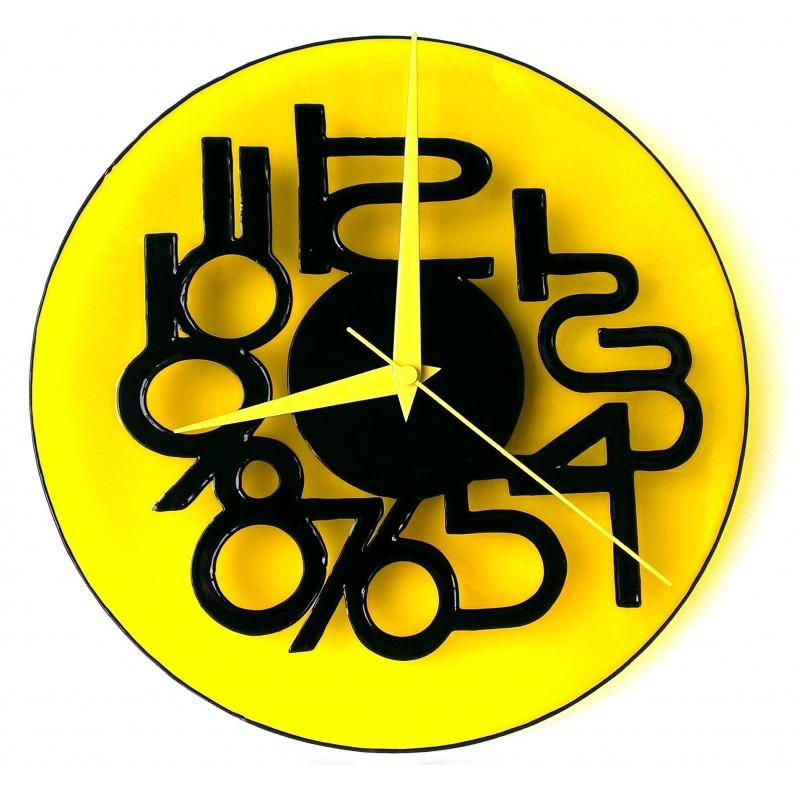 """Часы настенные """"Жёлтая лаконичность"""""""