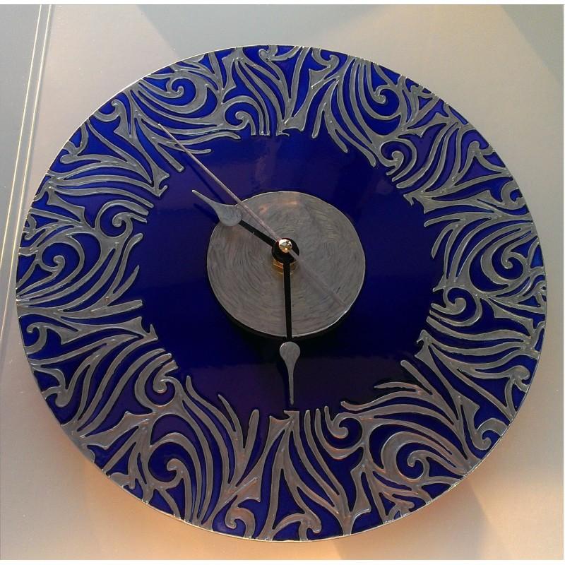 """Часы настенные """"Синие узоры"""""""